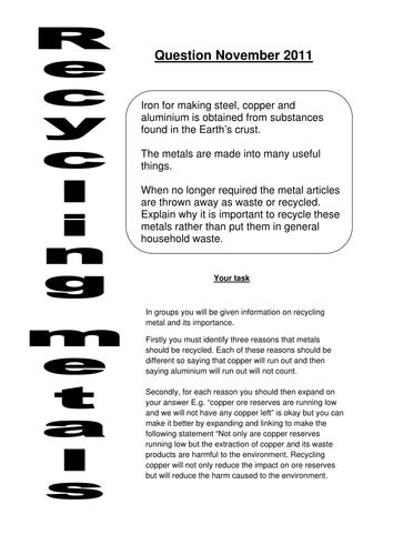 Recycling metals AFL