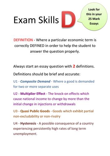 Exam Skills Posters - AQA Economics