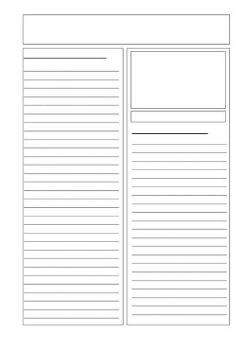 newspaper template by juliannebritton teaching resources. Black Bedroom Furniture Sets. Home Design Ideas