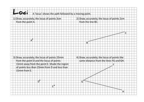Loci Worksheets by taylorda01 Teaching Resources Tes – Locus Worksheet