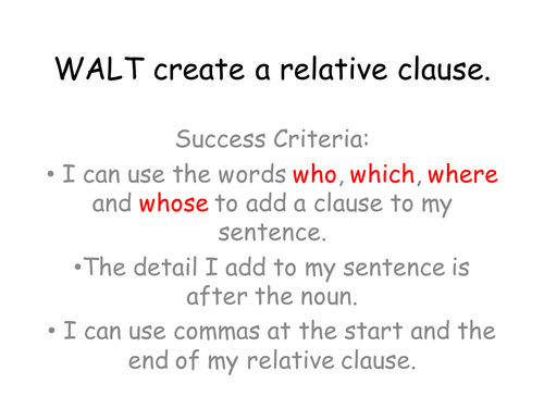 Relative clauses complex sentences by MariaWiddows Teaching – Subordinate Clause Worksheet