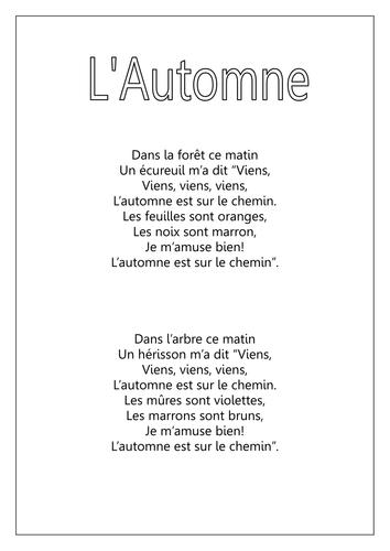 L'Automne poem