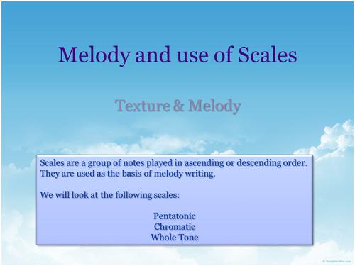 Melody - Pentatonic, Chromatic & Whole Tone Scales