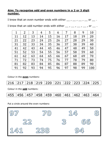 Recognising odd and even numbers by n_neil_w - Teaching Resources ...