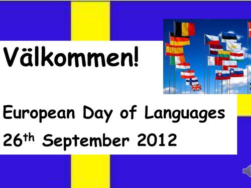 European Day of Languages Taster Swedish lesson