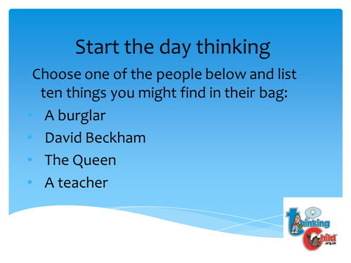 Ten ways to Start the Day Thinking