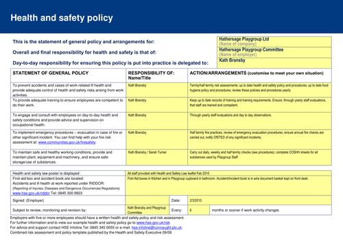 eys general risk assessment form by wingsofadove teaching
