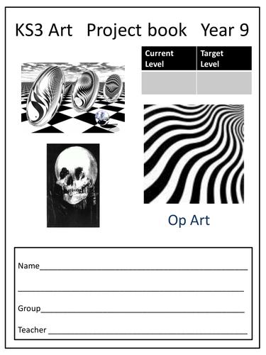 Op Art Project book KS3