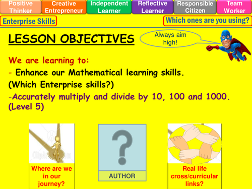 English In Italian: Multiplying And Dividing By 10, 100 & 1000 Lesson By