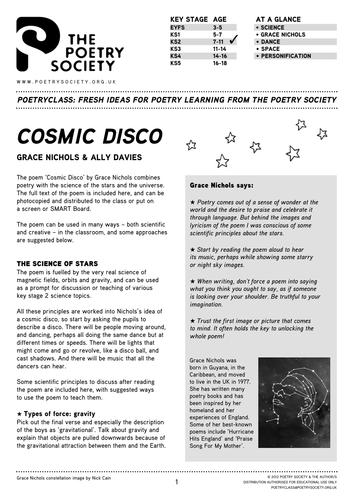 Grace Nichols Cosmic Disco Poetry Society