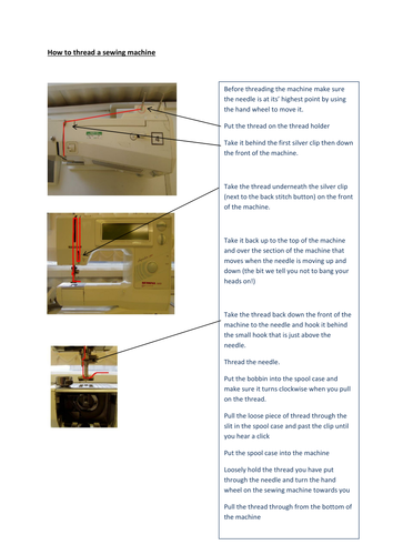 How to thread a sewing machine - Bernina Machine