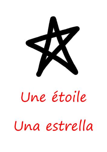 Une étoile / Una estrella - poster