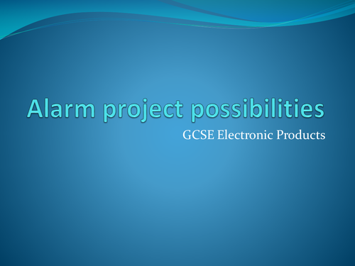 design ideas for GCSE Electronic products