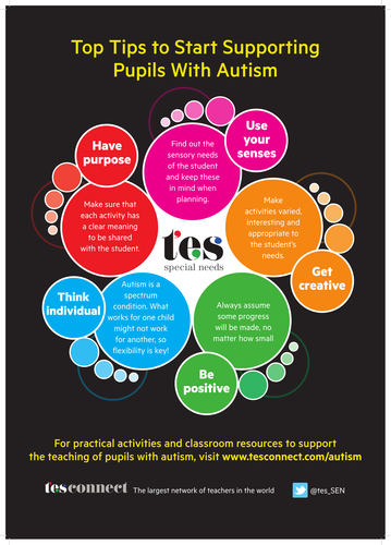 autism top five tips poster by tesspecialneeds teaching