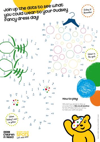 Pudsey Dot To Dot By Bbcchildreninneed Teaching