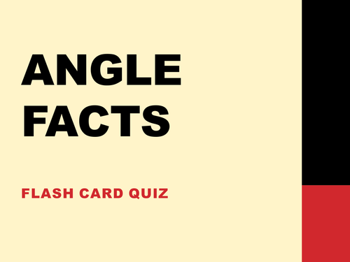 Parallel lines & angle facts quiz