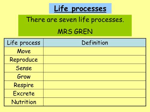 Cells - characteristics of life