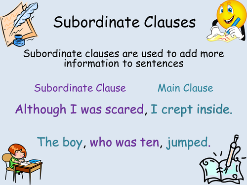 subordinate clauses powerpoint ks2 by astya - teaching resources - tes