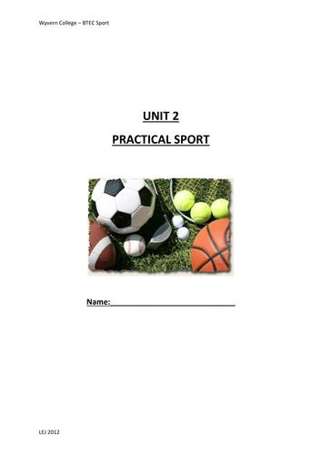 BTEC PE Unit 2 Practical Sport
