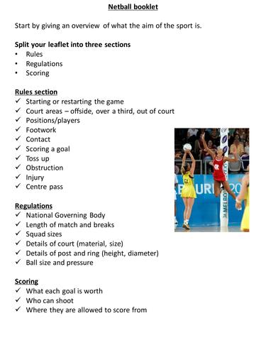 BTEC PE U2 Practical Sport - Rules & Regulations