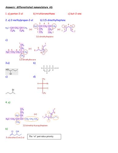 AS organic compound nomenclature lesson
