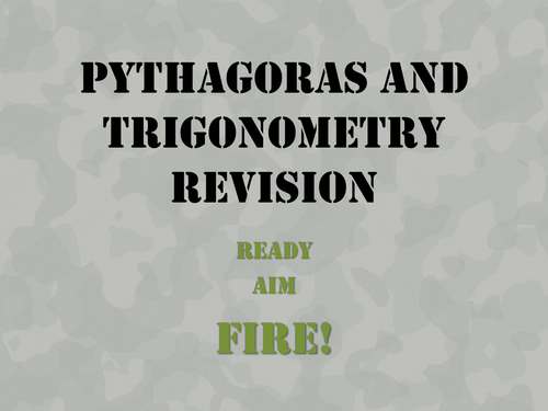 Military Tanks Pythagoras and Trigonometry