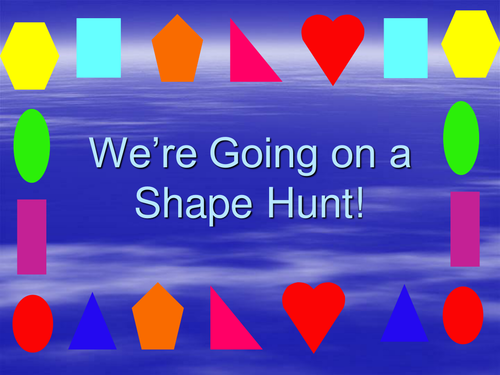 Image result for going on a shape hunt