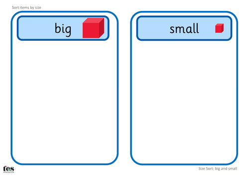 Big and Small: Size Sort TEACCH Activities by tesAutism ...