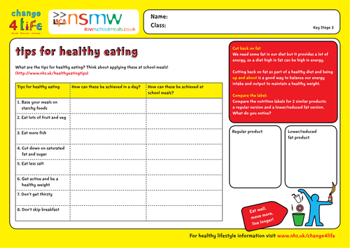 Healthy lifestyle quizzes produced by C4L