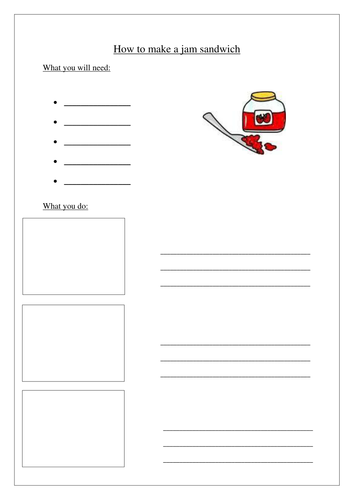 Instructions Writing Template By Kathryn87 Teaching Resources Tes