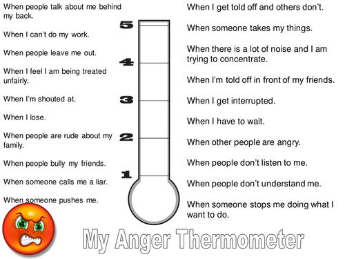 Feelings Thermometer Worksheet Delibertad – Thermometer Worksheet