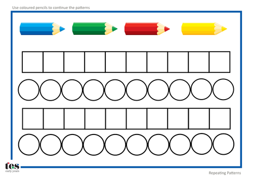 Patterns Worksheets by MummyHen Teaching Resources TES – Pattern Worksheet