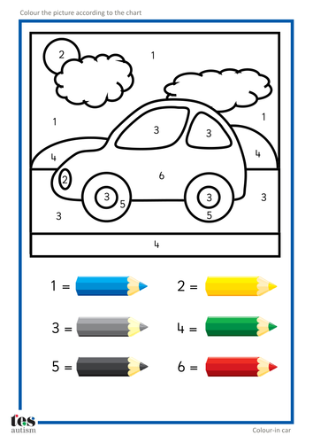 Colouring By Number Ks1 : Colour by Numbers by TESEarlyYears Teaching Resources Tes