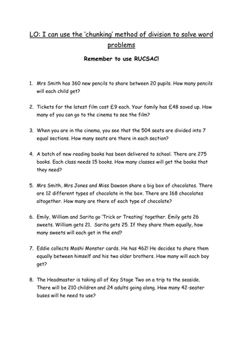 Mixed measurement word problems. by harriet1987 - Teaching ...