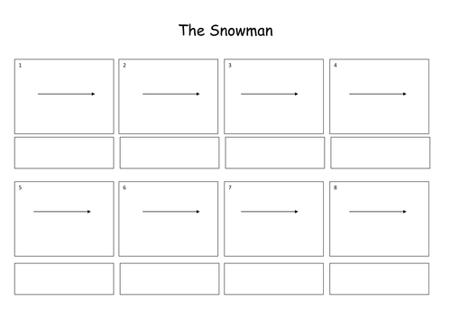 The Snowman Story Sequencing Activiy By Louisecrane Teaching