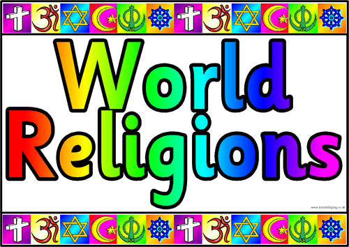 Main Religions By Bonjourmadame Teaching Resources Tes - World religions for kids
