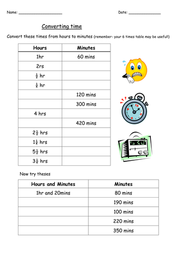 Converting units of time by Yarwood10 - Teaching Resources - TES