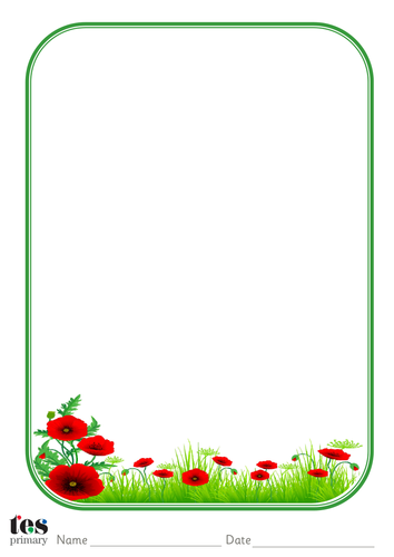 Classroom Design Clipart ~ Poppy themed paper by tesprimary teaching resources tes