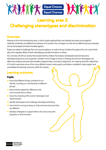 Worksheets Stereotype Worksheets challenging stereotypes and discrimination by equalchoicesequalchances teaching resources tes