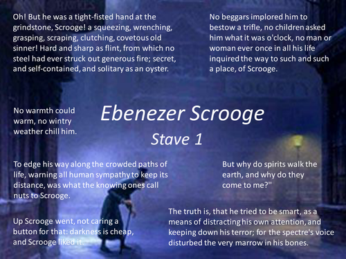 Quotes From A Christmas Carol Stave 4: A Christmas Carol Character PPT By AlixDyer