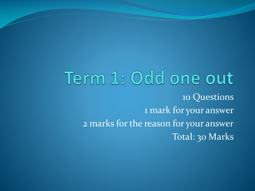 GCSE electronic products starter:  Odd one out
