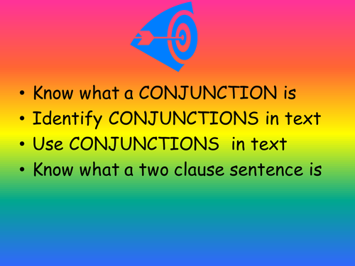 CONJUNCTIONS powerpoint Year 3/4 class