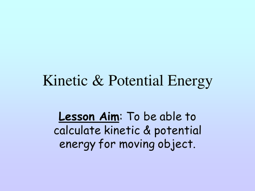 Kinetic energy calculation questions by PinkHelen Teaching – Worksheet Kinetic and Potential Energy Problems