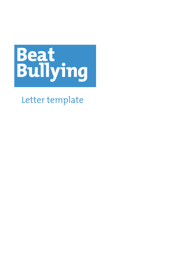 Write A Letter To Your Local Mp By Beatbullying Teaching Resources