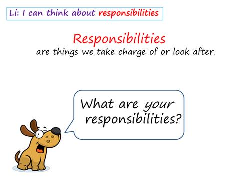 PSHE Responsibilities