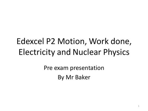 Pre Exam presentation & handout Edexcel P2