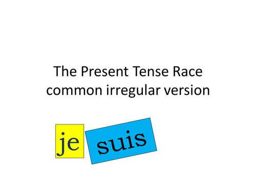 Irregular Present Tense Card Race