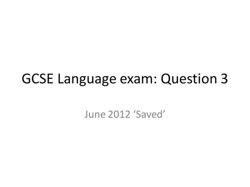 AQA English Exam Question 3
