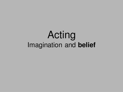 Microteach - Stanislavski