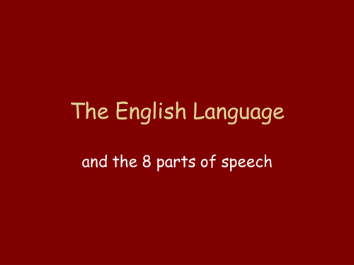 Grammar: The eight parts of speech by TheConnaughtSchool ...
